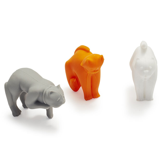 Tovolo Cat Lid Rests, Set of 3