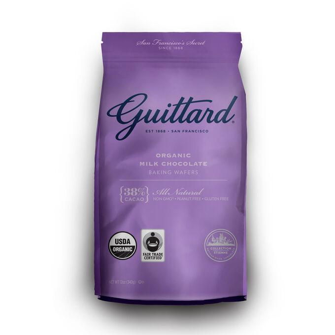 Guittard Organic Milk Chocolate Baking Wafers, 38%