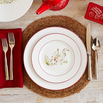 Farmhouse Rooster Salad Plate