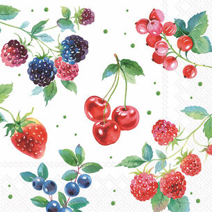 Berry Cocktail Napkins, Set of 20
