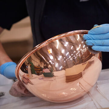"""Jacques Pépin Copper Roaster with Rack, 16"""" x 12"""""""