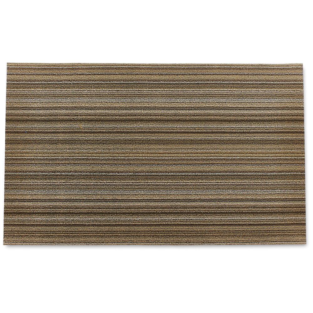 Chilewich Skinny Stripe Shag Mat, Mushroom