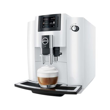 JURA E6 Automatic Coffee Machine, Piano White