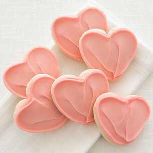 Cheryl's Frosted Heart Cookies, Set of 36