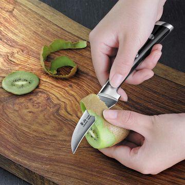 "Cangshan TS Series Swedish Sandvik Steel Forged Peeling Knife & Wood Sheath Set, 2.75"""