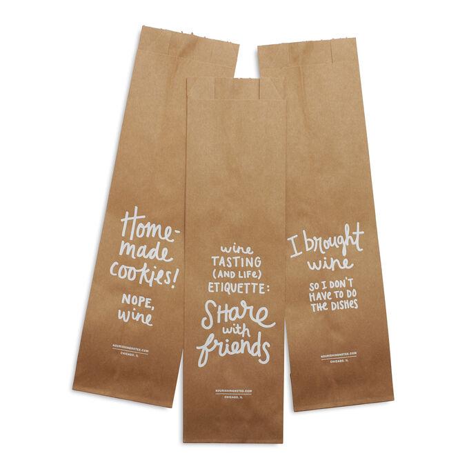 Paper Wine Bags, Set of 3