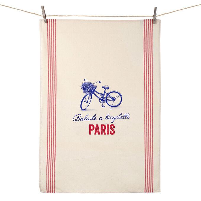 Tissage de L'Ouest Balade a Bicyclette Paris Towel