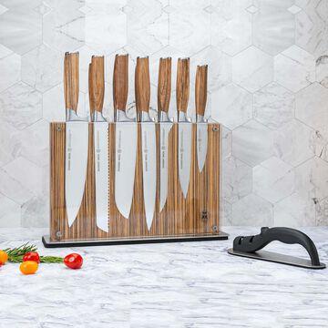Schmidt Brothers Cutlery Zebra Wood 15-Piece Knife Block Set
