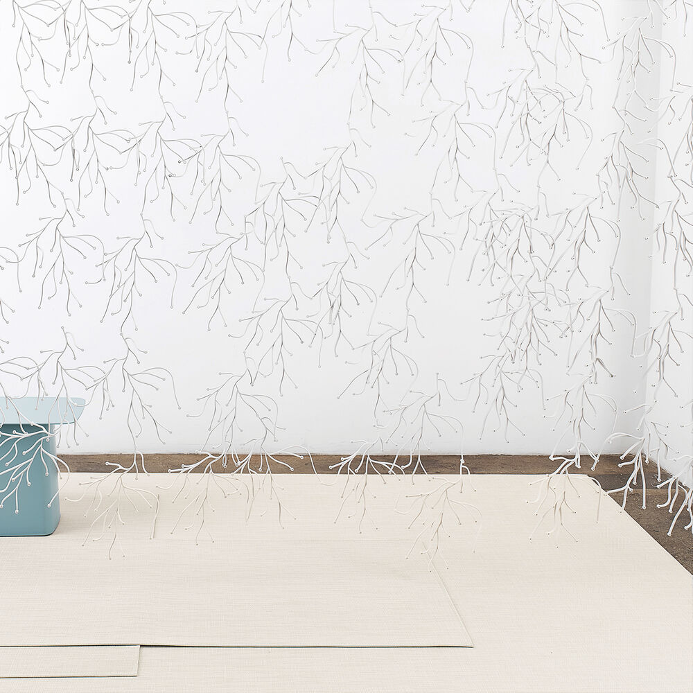 Chilewich Mini Basketweave Floor Mat, Sand