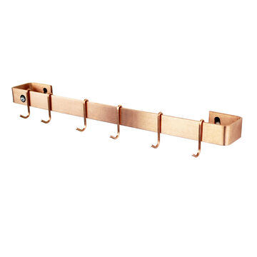Enclume Brushed Copper Utensil Bar Wall Racks
