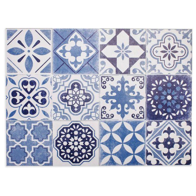 Blue Tile Vinyl Placemat