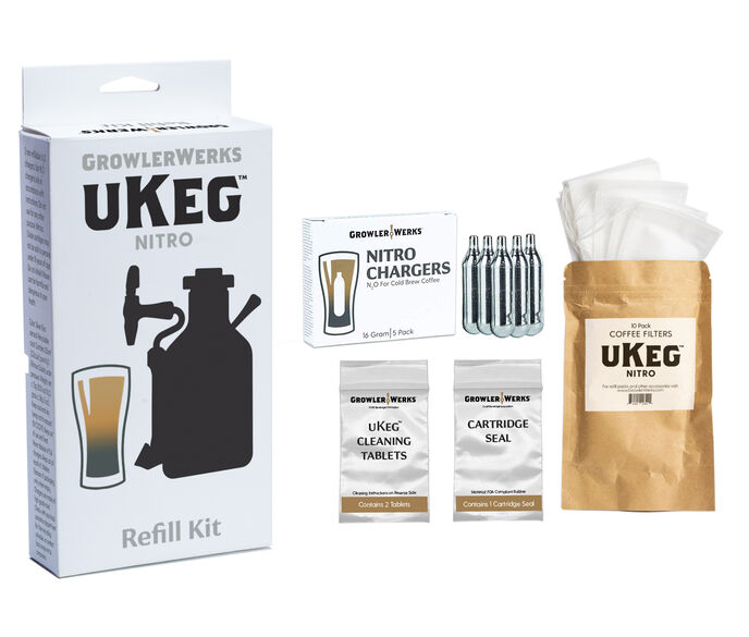 GrowlerWerks uKeg Nitro Refill Kit, 5 Pack