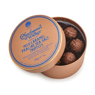 Charbonnel et Walker Milk Chocolate Sea Salt Caramel Praline Truffles, 7 oz.