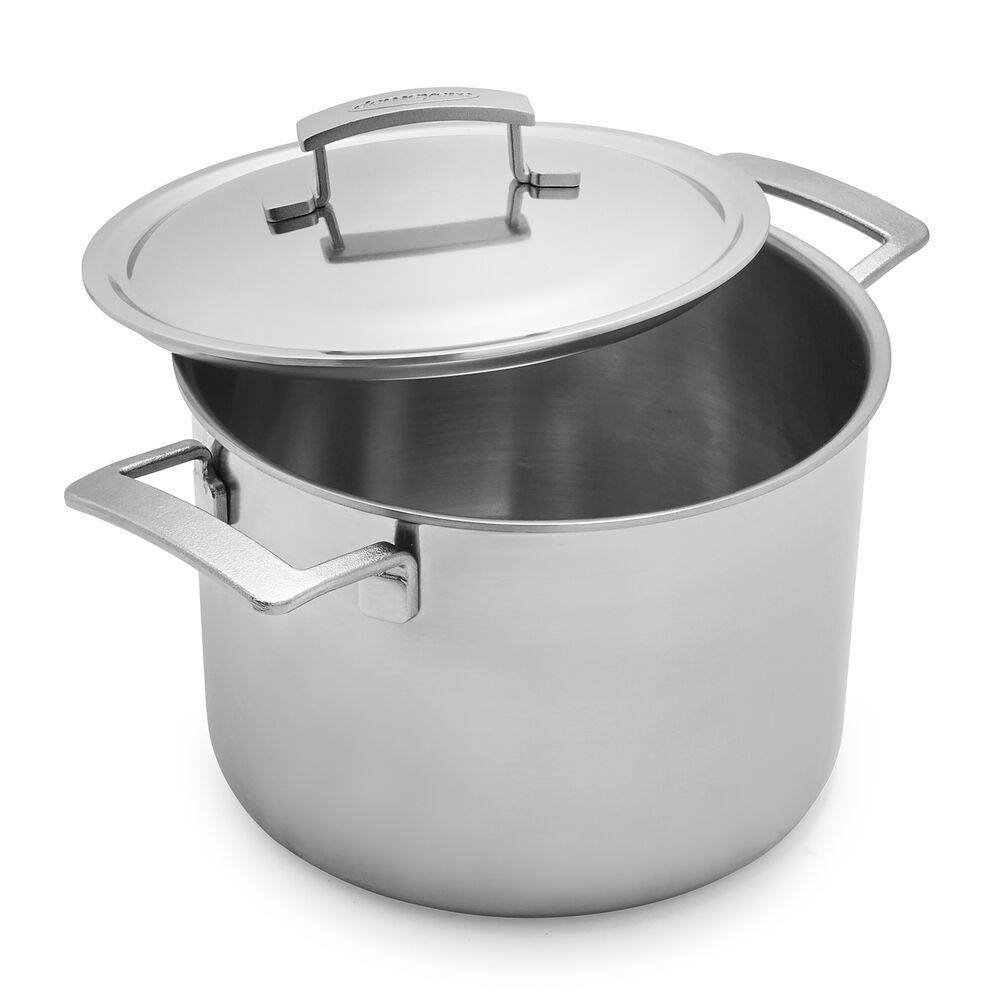Demeyere Industry5 Stockpot with Thermo Lid, 8 qt.