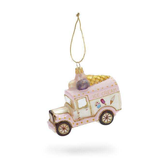 Ice Cream Truck Glass Ornament