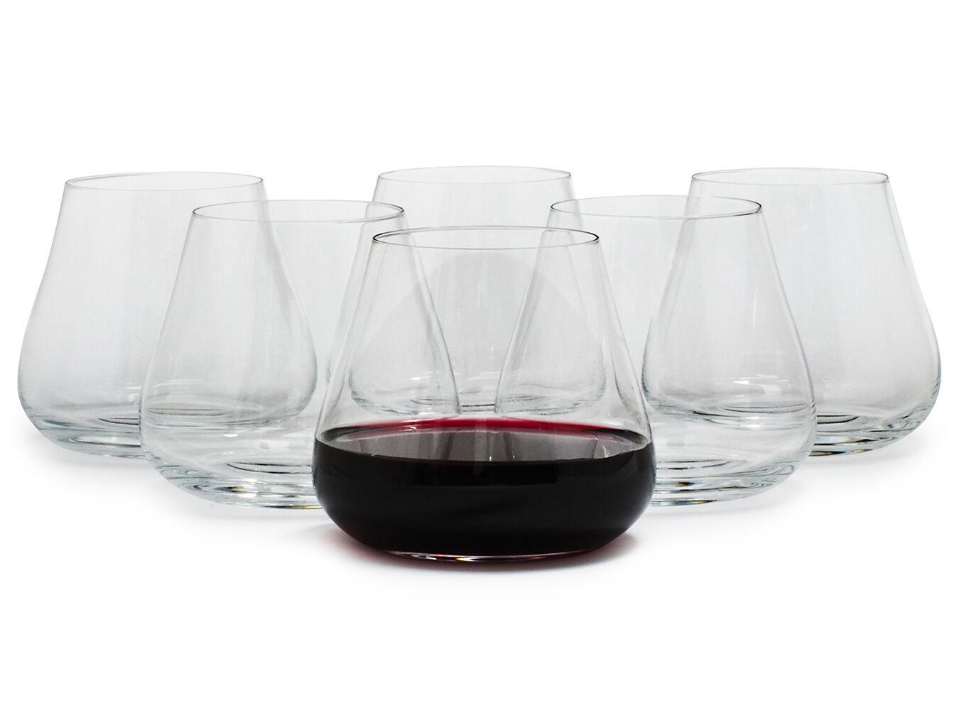 Schott Zwiesel Air Stemless Red Wine Glasses   Sur La Table