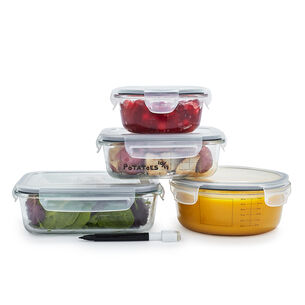 Sur La Table 8-Piece Glass Storage Container Set with Pen