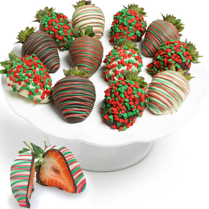 Holiday Chocolate Covered Strawberries
