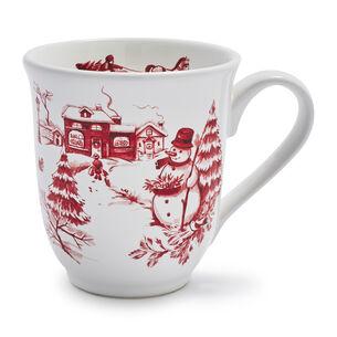 Snowy Lane Snowman Mug, 15 oz.