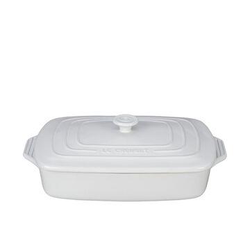 Le Creuset Covered White Rectangular Baker, 3.5 qt.
