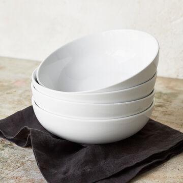 """Porcelain Pasta Bowl, 8"""""""