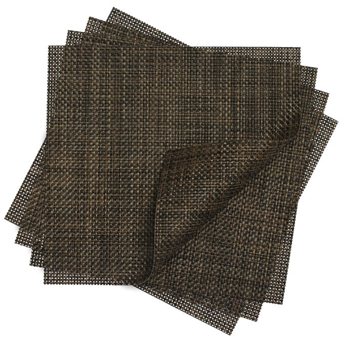 "Chilewich Basketweave Square Placemat, 14"" x 13"""