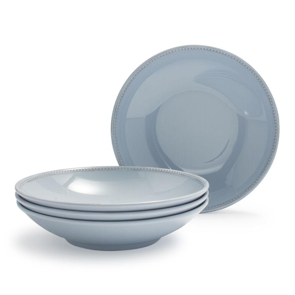 Pearl Melamine Pasta Bowls, Set of 4