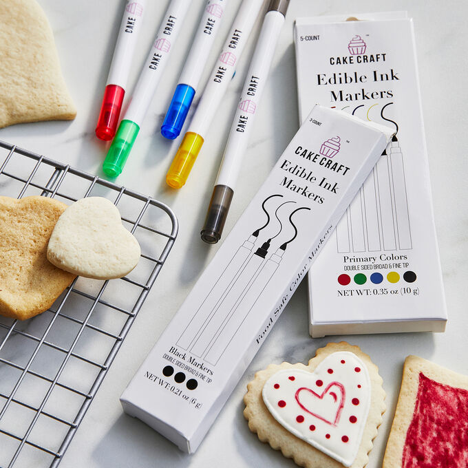 Cake Craft 3-Pack Edible Ink Markers, Black