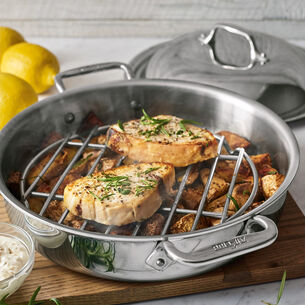 All-Clad d3 Stainless Steel Sear-and-Steam, 3 qt.