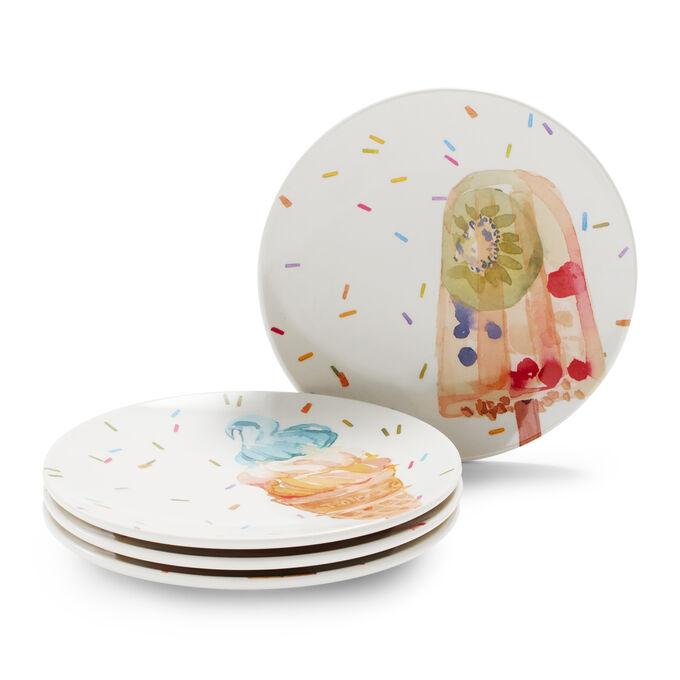 Ice Cream Appetizer Plates, Set of 4