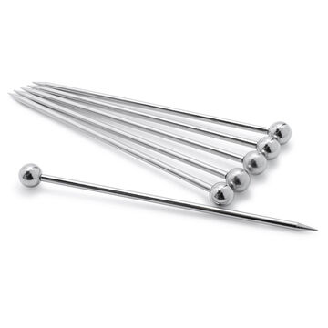 Stainless Steel Martini Picks, Set of 6