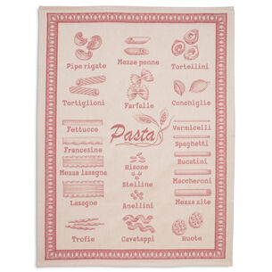 Pasta Red Jacquard Kitchen Towel