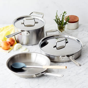 All-Clad d5 Brushed Stainless Steel 5-Piece Set