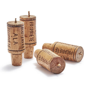 Wine Cork Candles, Set of 4
