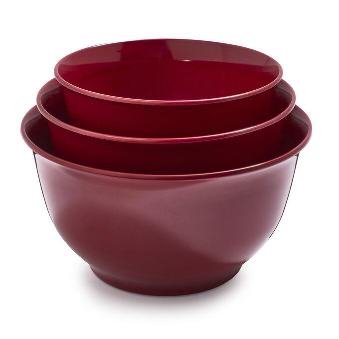 Melamine Mixing Bowls, Set of 3