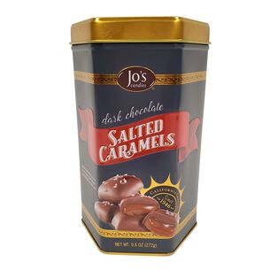 Jo's Candies Dark Chocolate Salted Caramels Gift Tin