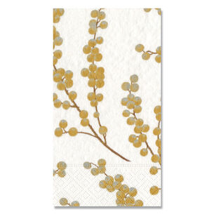 Berry Branches Paper Guest Napkins, Set of 15