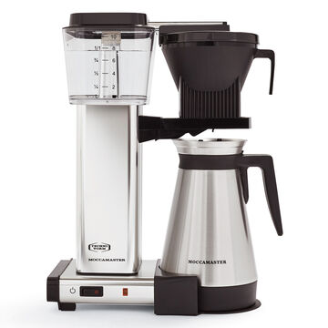 Technivorm Moccamaster KBGT Coffee Maker with Thermal Carafe, Polished Silver