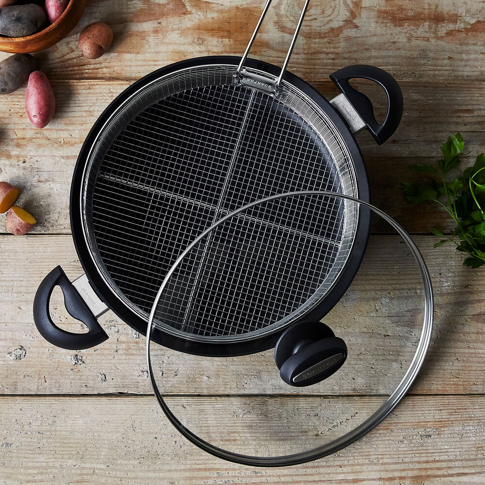 Scanpan ES5 Braiser with Lid and Fry Basket