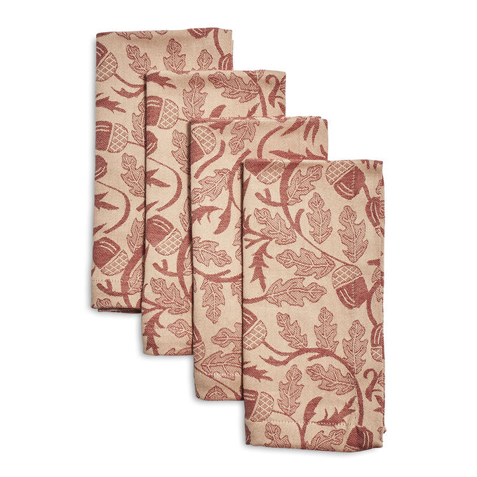 Acorn Jacquard Napkins, Set of 4