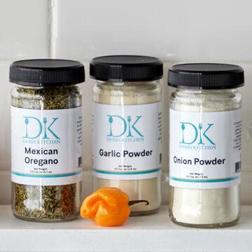 Debbs Kitchen Onion, Mexican and Garlic Spice Set