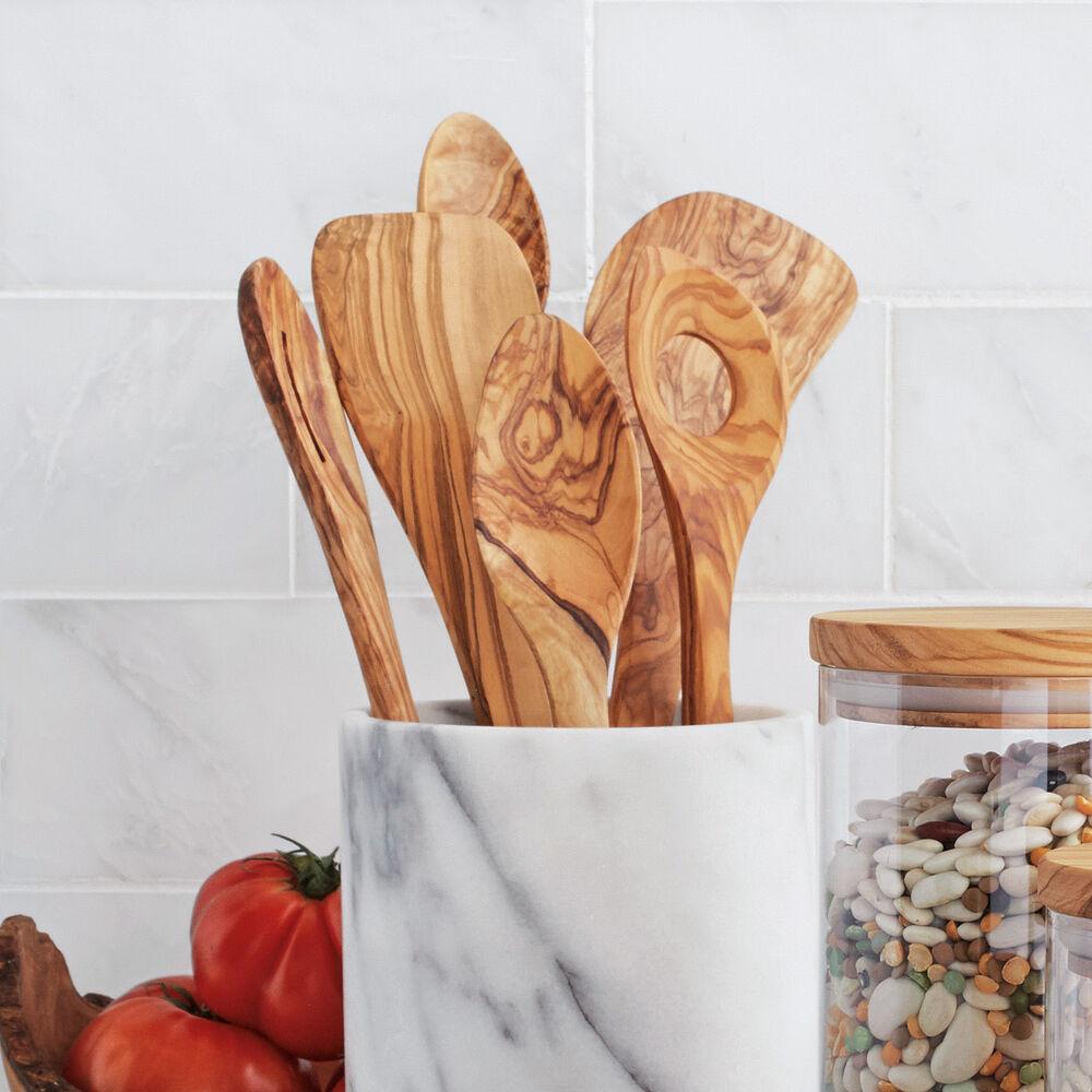 Sur La Table Olivewood Long Cook's Spoon