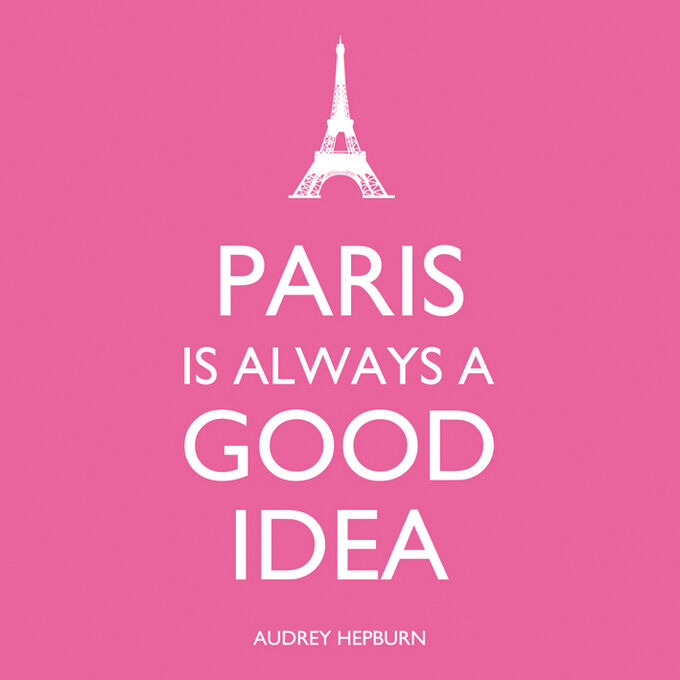 """Paris Is Always a Good Idea"" Paper Cocktail Napkins"