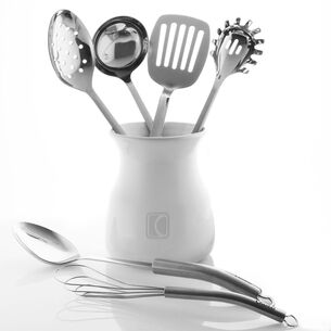 Chantal Stainless Steel Utensil Set with Crock, Set of 7