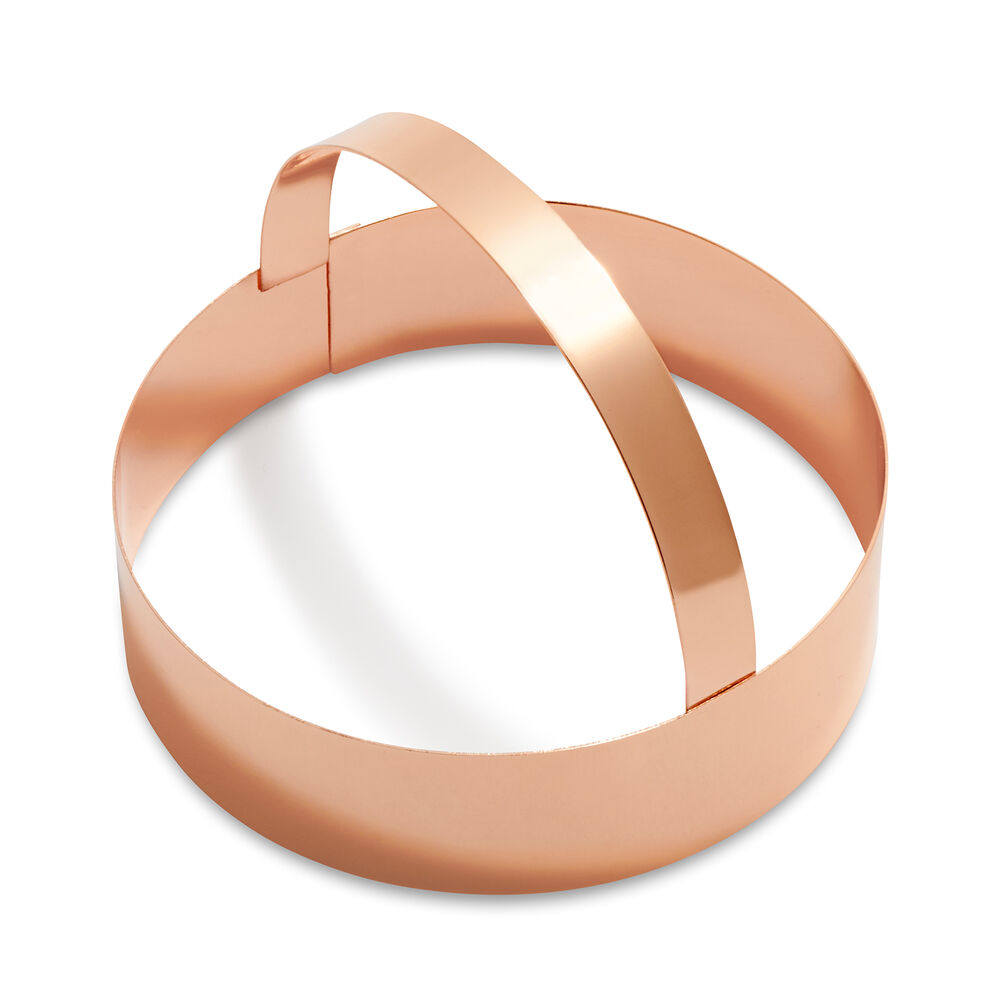 Sur La Table Copper-Plated Round Cookie Cutters with Handle