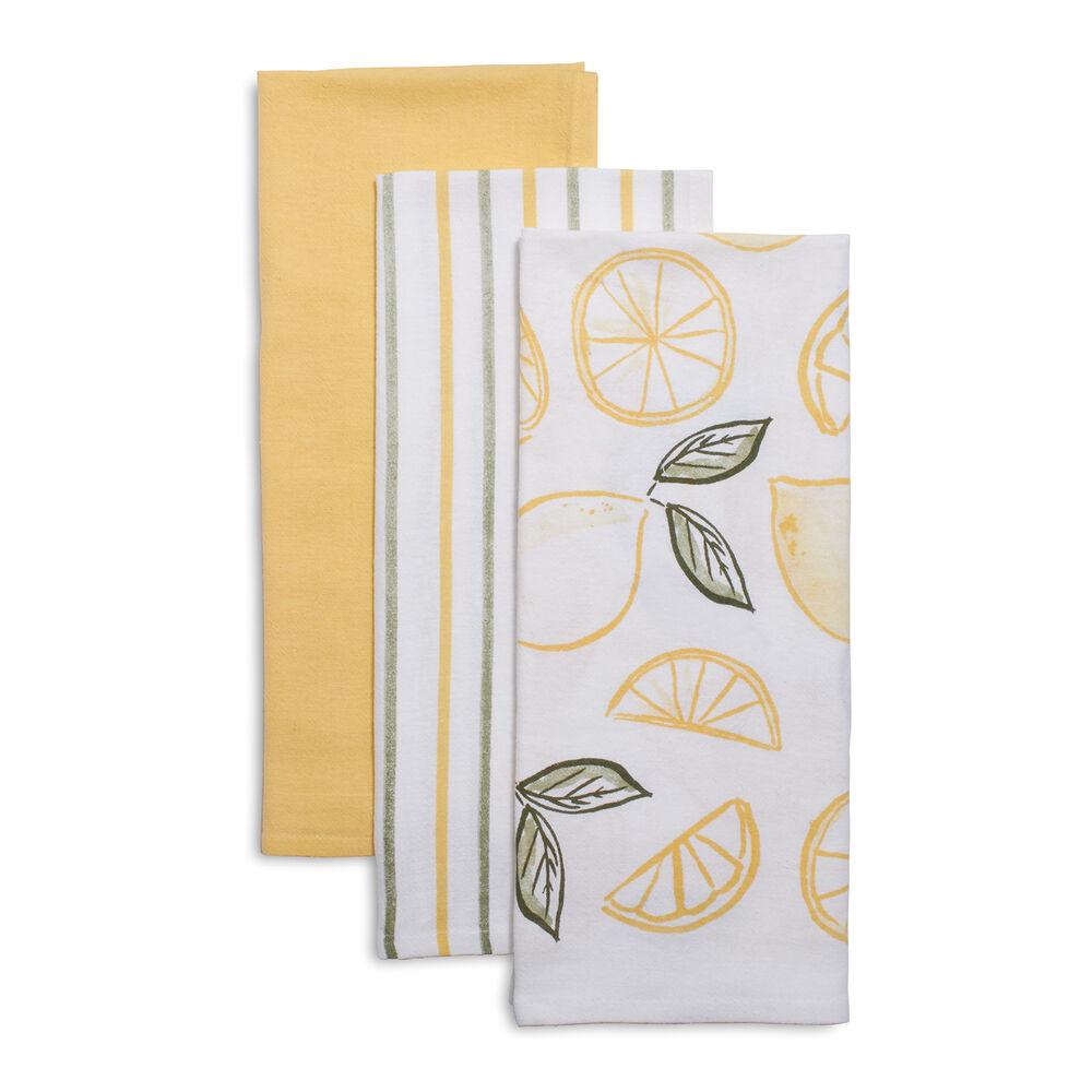 Flour Sack Kitchen Towels, Set of 3