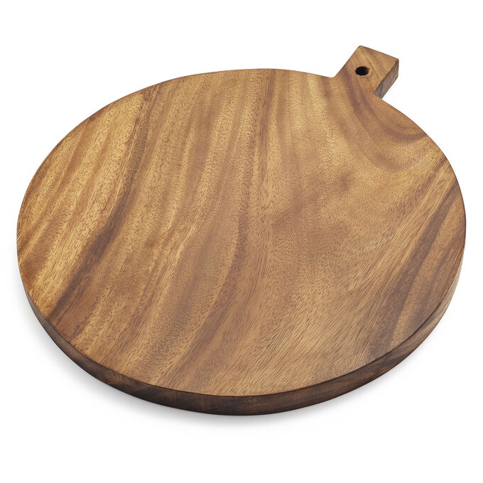 Acacia Wood Round Cheese Paddle