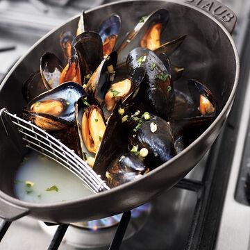 Staub Black Mussel Pot, 1¾ qt.