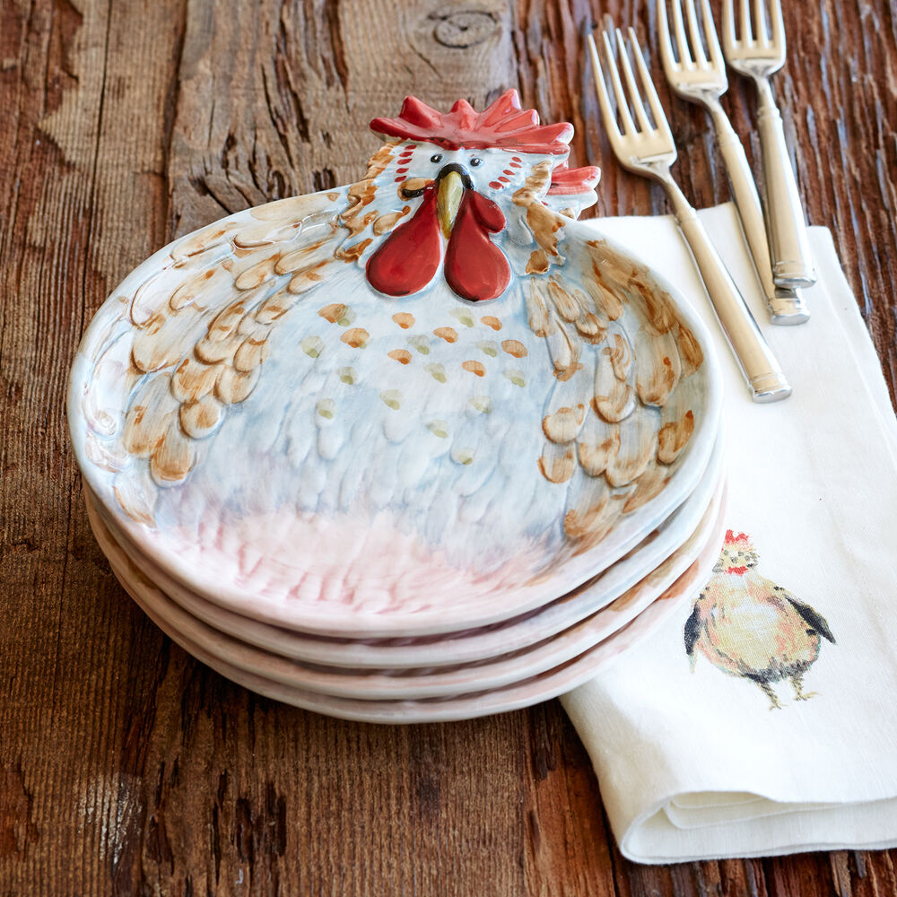Jacques Pépin Collection Figural Chicken Plate
