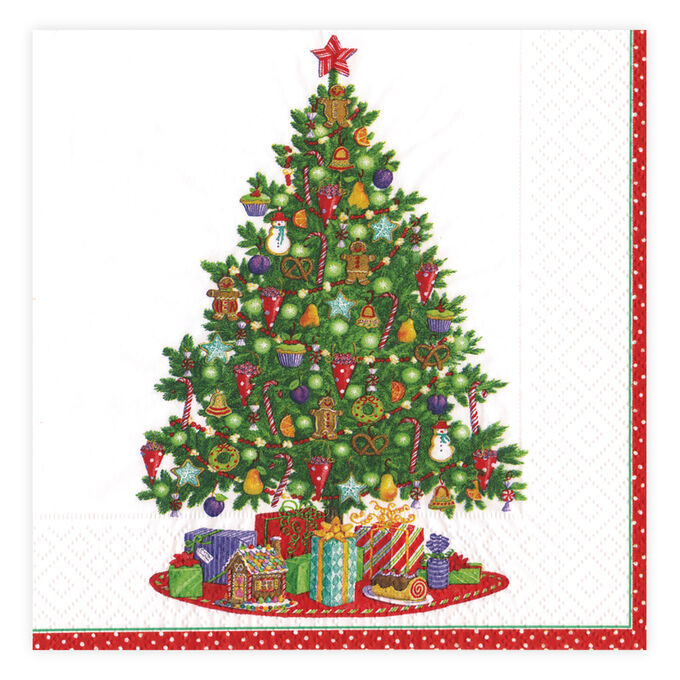Under the Christmas Tree Cocktail Napkins, Set of 20